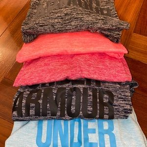 PACK OF 5 Under Armour Work Out Tops - Medium